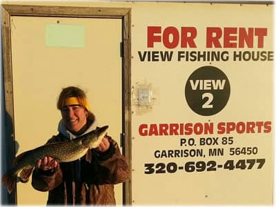 Garrison Sports Bait and Tackle Ice Fishing House Rental