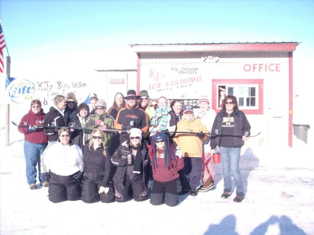 KJ's Ice Fishing Mille Lacs Office Group
