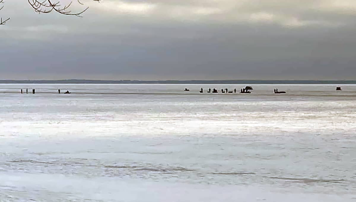 Mille Lacs Lake Ice Report December 12 2020 Red Door Resort Rescue
