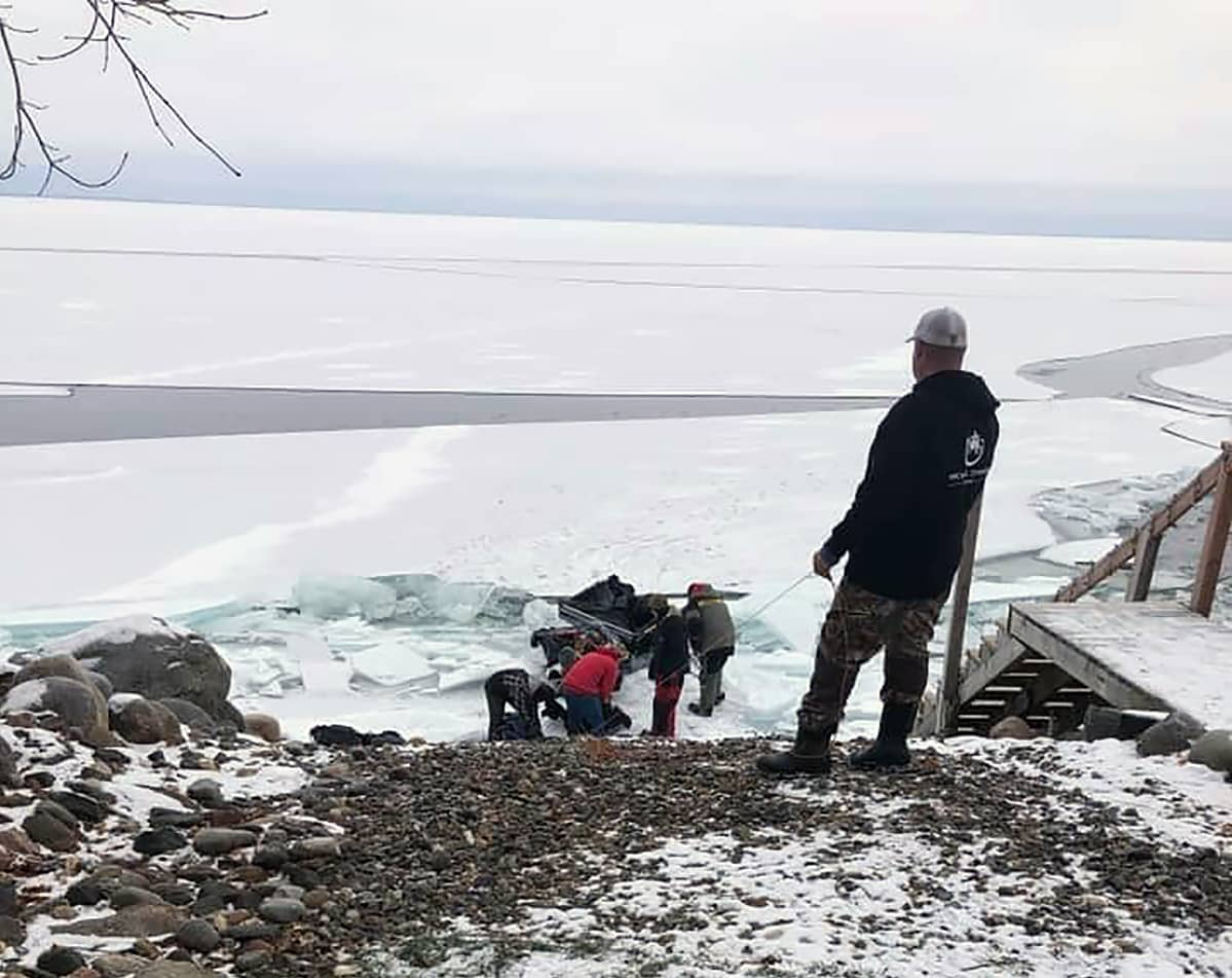 Mille Lacs Lake Ice Report December 12 2020 Seguchie Point Three