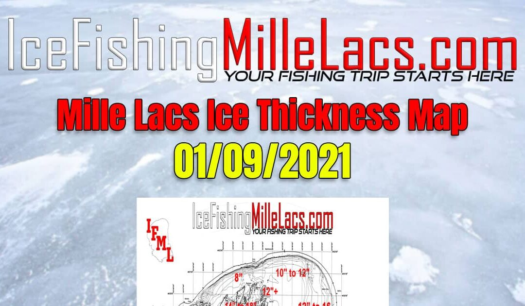 Mille Lacs Lake Ice Thickness Map 01-09-2021 Ice-Fishing