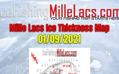 Mille Lacs Ice Thickness Map