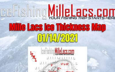 Ice Thickness Map 01-14-2021