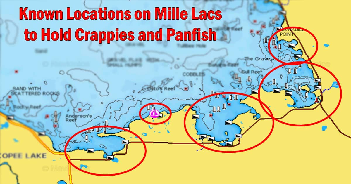 Known Locations on Mille Lacs to Hold Crappies and Panfish
