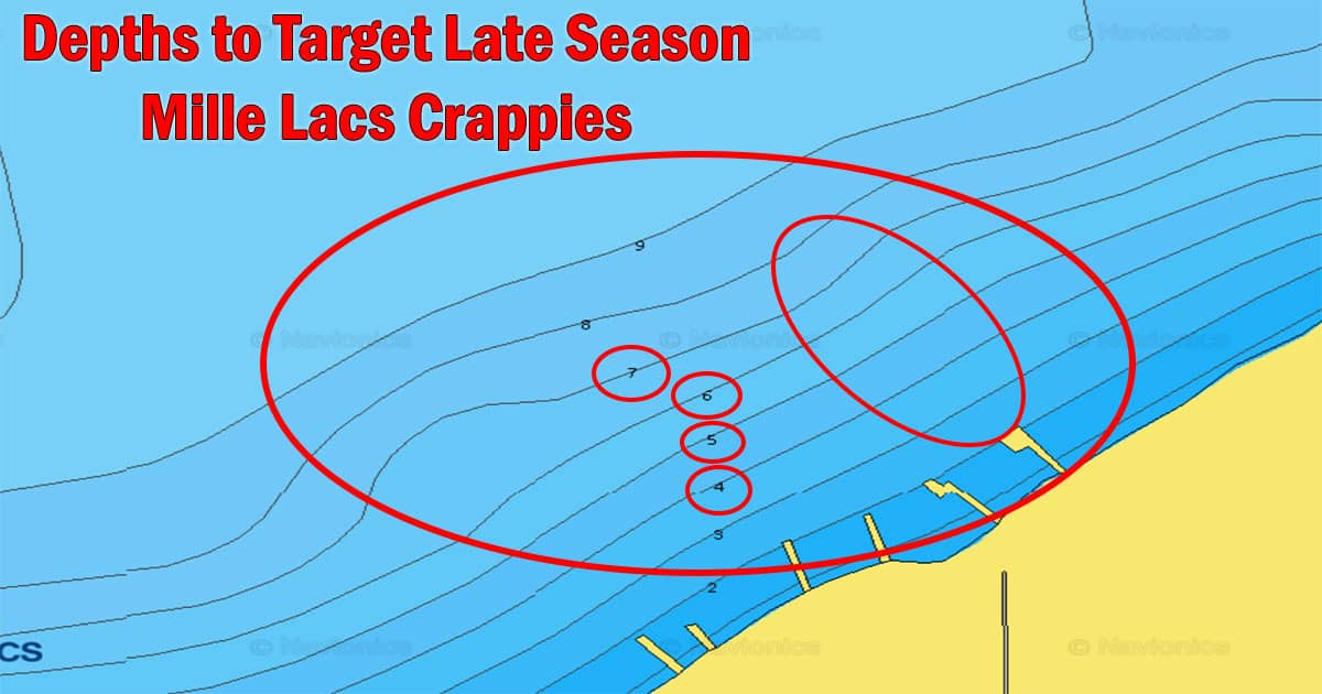 Target Depths for Late Season Mille Lacs Crappies