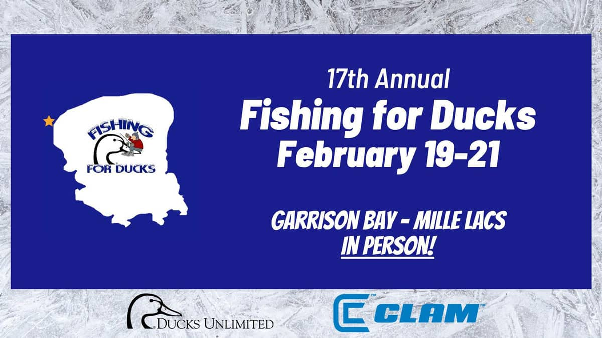 Fishing For Ducks Mille Lacs Ice Fishing Tournament Banner Logo