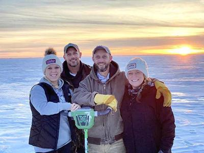 Brandt Family Ice Fishing Mille Lacs