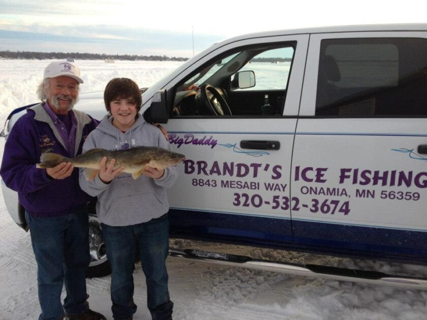 Jerry Brandt Ice Fishing Mille Lacs Plow Truck
